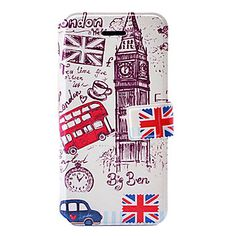 Fashion London Big Ben Pattern Leather Case with Holder & Card Slots for iPhone 5/5S - GBP £ 5.28