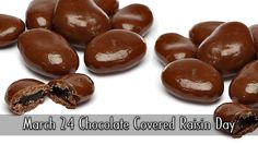 March 24 Chocolate Covered Raisin Day