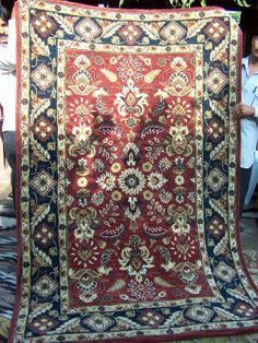 Bashford's collection of Rugs & Textiles includes a Mughal Floral Pattern - Mughal Floral ,Terracotta, cream navy border Quilts, Rugs, Luxury, Antiques, Floral, Pattern, Home Decor, Farmhouse Rugs, Antiquities
