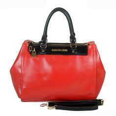Michael Kors Saffiano Continental Large Red Totes