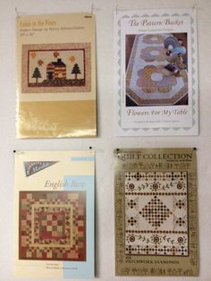 4 Patterns  Cabin in the Pines Flowers for by KoopsKountryKalico, $10.00