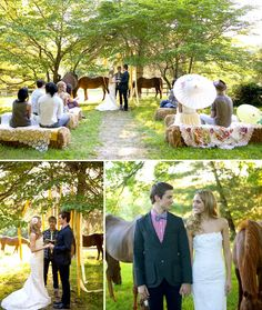 simple cheap outside country wedding ideas | Perfect Country Wedding