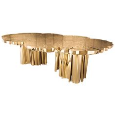 FORTUNA | Dining Table Table in High Polished Brass, Limited Edition, Available in iron and/or  copper (polished, brushed or raw) - portugal - c2012 - via cain modern - 68,500 usd