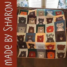 So many cute bears! Make a cuddly bear quilt in your favorite colors! The pattern includes templates for thirteen adorable bears. Felt Patterns, Applique Patterns, Crochet Patterns Amigurumi, Quilt Pattern, Quilting Patterns, Happy Show, Bear Crafts, Quilt As You Go, Diy Baby Gifts