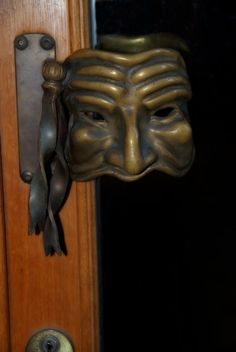 Venetian door handle near San Toma vaporetto stop. Bailey Zimmerman (hardware)