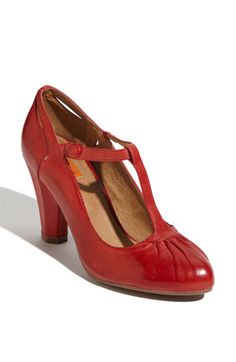 Red T-strap pumps. I mean, one should be able to wear the SHOES again, at least.