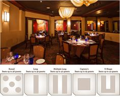 The Woodlands Location – Banquet Room, Seats up to 56 guests