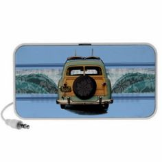 Woody Wave Surfer Doodle Speakers from our Zazzle store