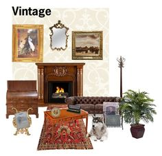"""""""Vintage"""" by muskrosevintage ❤ liked on Polyvore featuring interior, interiors, interior design, home, home decor, interior decorating, Southern Enterprises, Fountain, Nearly Natural and Karl Lagerfeld"""