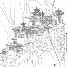 Иллюстрация 7 из 57 для Удивительные строения. Раскраска с самыми красивыми зданиями, реальными и выдуманными - Стив Макдональд   Лабиринт - книги. Источник: Лабиринт