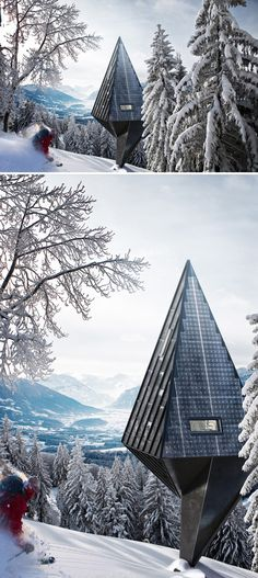 Primeval Symbiosis (Single Pole House) is an architectural design project by architecture student and interior designer Konrad Wójcik that s...