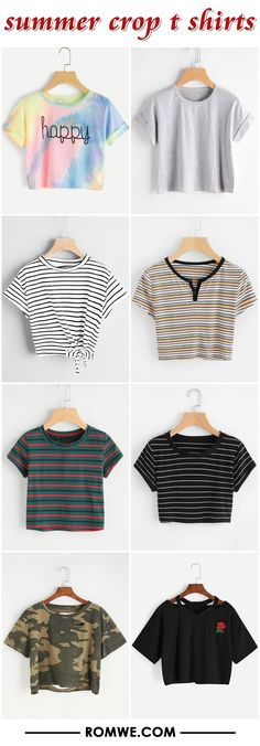summer crop t shirts from romwe.com