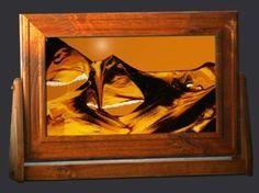 Sand Art - Large Rectangle, Alder Wood Frame, Sunset Orange Background