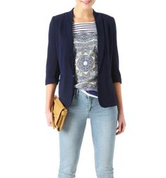 Tailored jacket navy blue - Promod