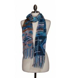 beautifully patterned scarf