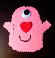 Monsters aren't always scary, are they? Well these ones aren't and they are full of LOVE! Let your toddlers and little ones help to make some little I-Heart-U monsters. :) What you need: pink const...