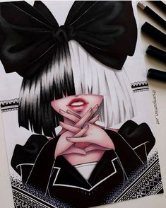Everytime I see all this fandrawings, I think what's the reason that has made in you in that moment draw I mean, just look at… Amazing Drawings, Cute Drawings, Drawing Sketches, Horse Drawings, Drawing Art, Sia And Maddie, Bird Set Free, Grunge Art, Celebrity Drawings