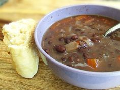 """Panera """"copycat"""" Black Bean Soup - good and makes a lot.  Froze half, so more for later!"""