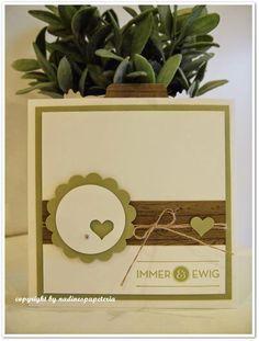 Nadines Papeteria: Quadratische Einladung zur Hochzeit