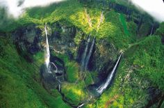 'Trou de Fer' (Iron Hole), Réunion Island (Indian Ocean). The Canyon is up to 1,000 feet (300m) deep