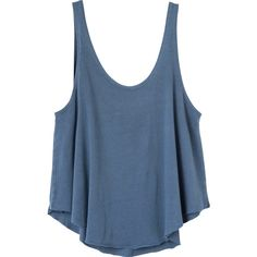 RVCA Women's Label Drape Tank Top ($15) ❤ liked on Polyvore featuring tops, shirts, tank tops, tanks, mosaic blue, loose fitting tanks, blue tank, jersey tank top, loose tank and loose tank top