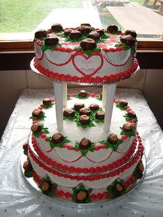 OSU Buckeye Wedding Cake...umm awesome!
