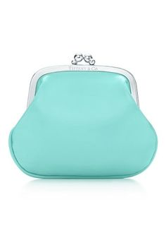 I'm tired of digging around my purse for change. Time for a Tiffany blue coin purse!