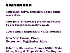 Capricorn profile
