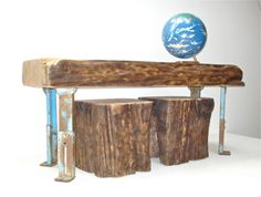 ThreePiece Industrial ConverTable by realwoodworks1 on Etsy, $1300.00