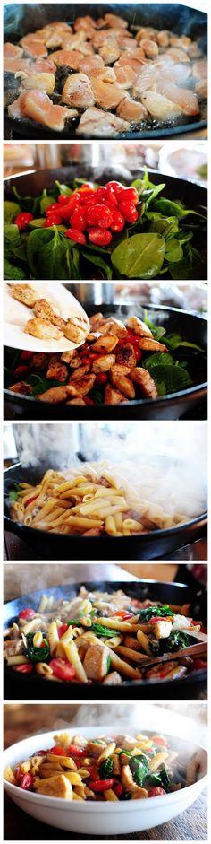Chicken florentine pasta