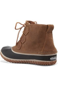 Sorel - Out N About™ Waterproof Nubuck And Rubber Boots - Brown - US10.5
