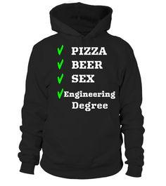 Engineering Degree Pizza Beer Sex Student Novelty TShirt  #tshirtsfashion #tshirtwomen #tshirtmen #tshirtprinting