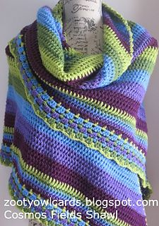Cosmos Fields Shawl ~ free pattern