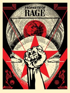 Frank Shepard Fairey (Obey) Prophets of Rage, Serigraph/Screen Print on: Speckeltone Paper hand signed and numbered edition Paper size: 18 x 24 Inch Images size: 18 x 24 Inch very good condition Graffiti Designs, Rock Posters, Concert Posters, Art Posters, Obey Wallpaper, Shepard Fairey Obey, Obey Art, Propaganda Art, Political Art