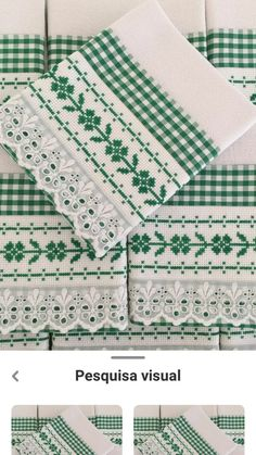 Quilted Table Toppers, Swedish Weaving, Embroidered Towels, Green Pillows, Cross Stitch Borders, Needlework, Christmas Wreaths, Sewing Projects, Quilts