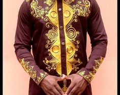 Browse unique items from Odenehowear on Etsy, a global marketplace of handmade, vintage and creative goods. African Dresses Men, African Clothing For Men, African Shirts, Latest African Fashion Dresses, African Men Fashion, African Attire, African Wear, Ankara, Kurta Patterns