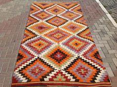 Diamant design tapis Kilim tapis turcs Vintage par PocoVintage