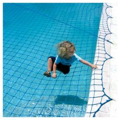 WaterWarden Pool Safety Net for In Ground Pool up to 16' x 32', Blue