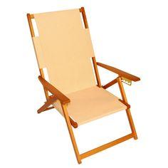 Teak Stained Wood Beach Chair | Natural Wood Beach Chairs