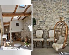 Réhabilitation esprit loft dans le Gard provençal réalisée par Marie-Laure Helmkampf, architecte d'intérieur