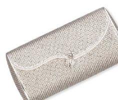 Womens Purses  : AN 18K WHITE GOLD AND DIAMOND EVENING BAG