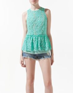Peplum and lace, some of my favorite things!