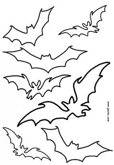 Halloween stencil patterns bats for kids to print & cut out