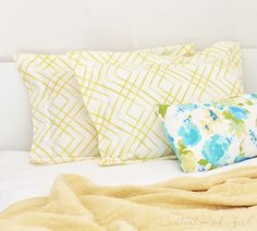 simple sew flanged pillow shams