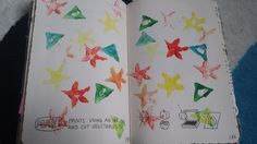 My Wreck This Journal - Vegetable Print Page #potatoprint #kerismith #wreckthisjournal #thisisnotabook
