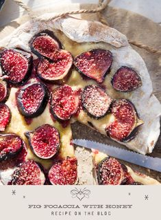 Soft and warm, this Fig Focaccia with Easterh Shore Honey is makes a perfect hors d'oeuvre for autumn and winter get togethers. Slow Cooker Recipes, Cooking Recipes, Kitchen Recipes, Manuka Honey, Honey Recipes, Easy Entertaining, I Want To Eat, Medicinal Herbs, Vegetarian Cheese