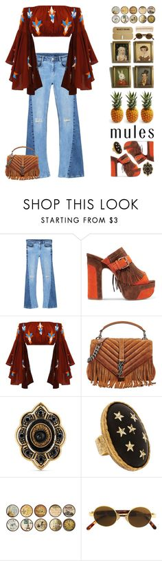 """Mules"" by doga1 on Polyvore featuring MANGO, Ash, Yves Saint Laurent, Gucci, Allison Daniel, Black Apple, INC International Concepts, Moschino and The Body Shop"