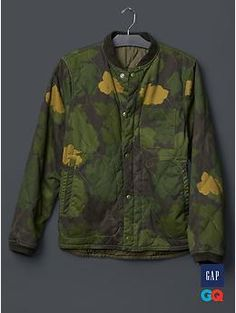 Gap + GQ The Hill-Side reversible quilted bomber | Gap