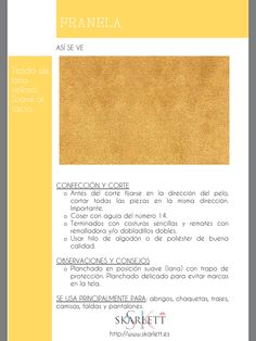 El dossier de las telas Skarlett Sewing Hacks, Sewing Projects, Textile Industry, Fashion Dictionary, Fashion Vocabulary, Textile Texture, How To Make Clothes, Janome, How To Dye Fabric