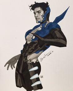 Blue Beetle by Kevin Wada Dc Comics Characters, Dc Comics Art, Marvel Dc Comics, Anime Characters, Comic Character, Character Design, Cartoon Books, Blue Beetle, Batman Family